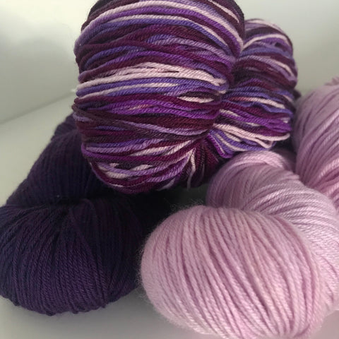Heritage Sock Yarn, purple collection