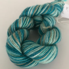 Green Sock Yarn Mini Skein approx 20g