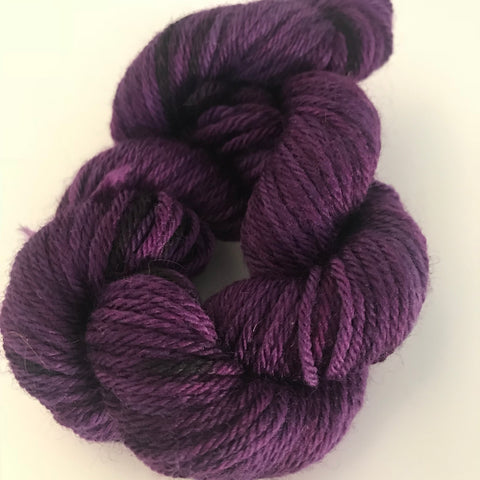 Purple Sock Yarn Mini Skein approx 20g