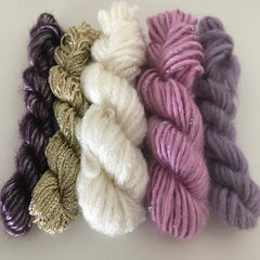 Teeny Tiny 8ply Textured Yarn Pack (metallic)