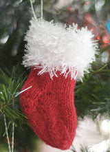 Fuzzy Santa Stocking Decoration Pattern