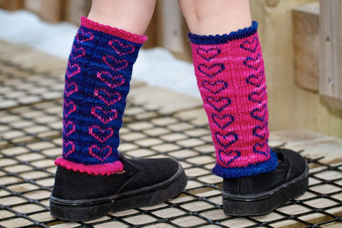 Heart Legwarmers pattern download