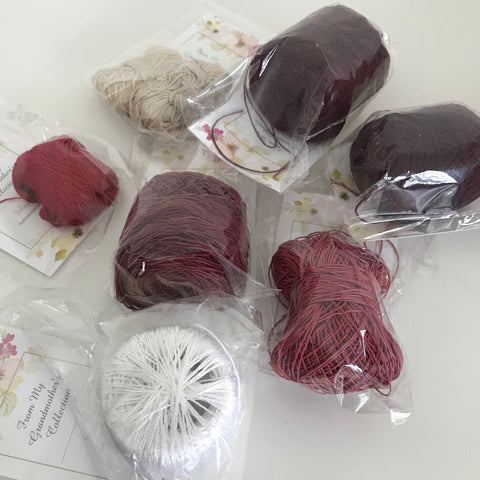 Vintage Crochet Cotton Assorted Colours