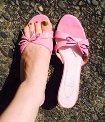 Pink Bow Sandal Heels size 6