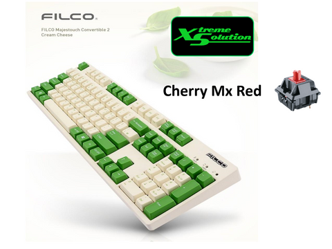 Filco Convertible 2 Bluetooth Mechanical Keyboard (Cream Green Limited Edition Color)