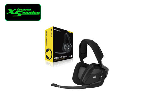 Corsair VOID RGB ELITE Wireless Premium Gaming Headset with 7.1 Surround Sound — Carbon/ White