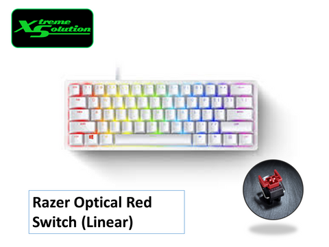 Razer Huntsman Mini Mercury 60% Optical Gaming Keyboard - Linear Red Switches