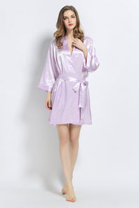 Lavender Signature Satin Robe