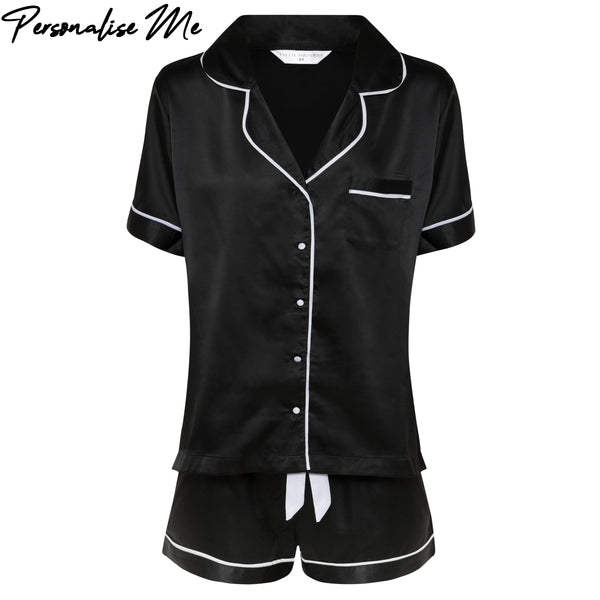 Olivia Short PJ Set in Black