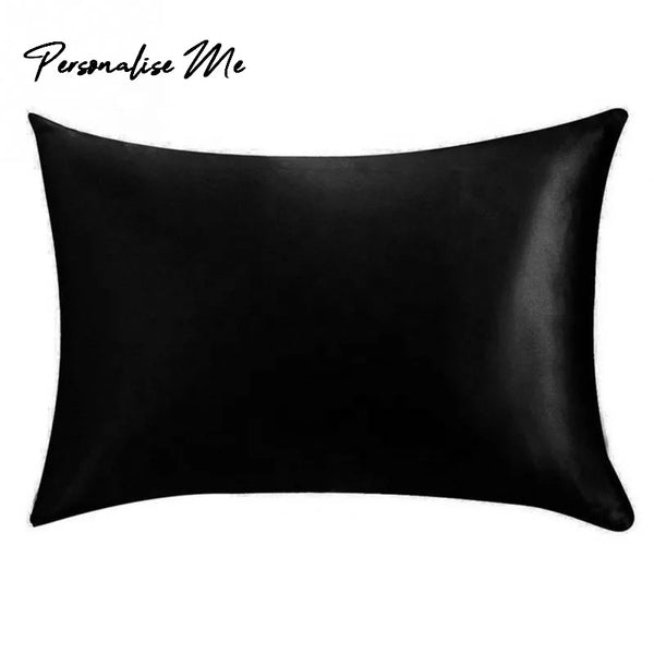 22 momme Pure Silk Pillowcase in Black