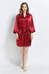 Burgundy Signature Satin Robe