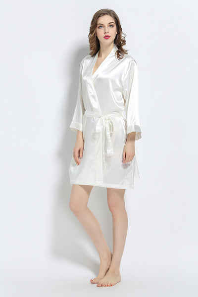 Ivory Signature Satin Robe