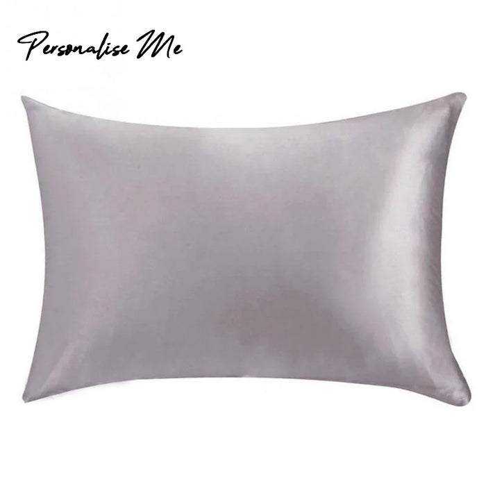 22 momme Pure Silk Pillowcase in Silver