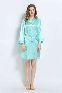 Tiffany Blue Signature Satin Robe