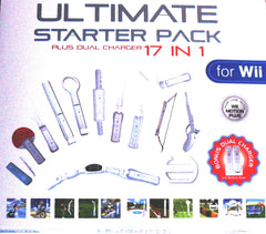 Wii ULTIMATE Starter Pack - 17 in 1 Plus Dual Charger