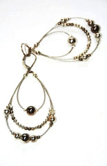Women's Multi Hoop Silver Tone Earrings