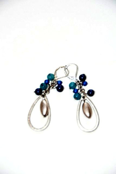 Women's Silver Tone Tear Drop Earrings