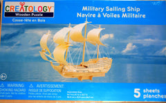 CREATOLOGY Wooden Puzzle - Military Sailing Ship