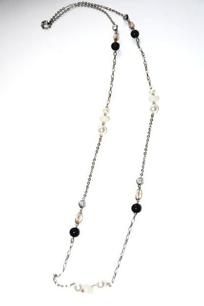 3 Color Bead & Chain Necklace