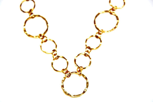 Golden Color Round Chain Necklace