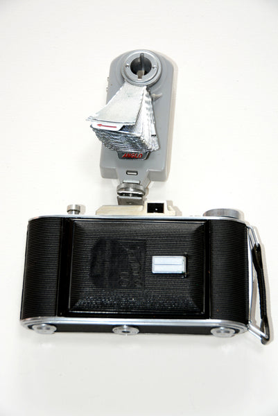Vintage Camera and Collapsable Dish Flash