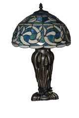 Tiffany Style Table Lamp with Custom Metal Base