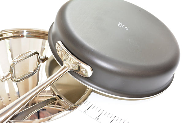 "All Clad Stainless Steel 11.5"" Saute' Pan With Lid"