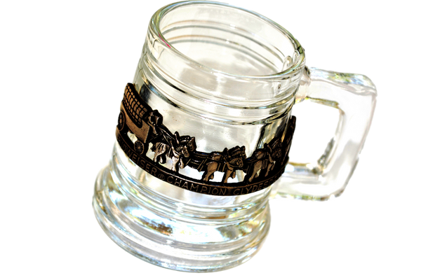 Collectible Budweiser Champion Clydesdales Mini Mug Shot Glass