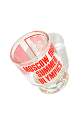 Vintage Moscow 1980 Summer Olympics Shot Glass