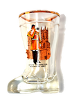 UK Boot Shape Shot Glass - State Trumpeter, Westminister Abbey