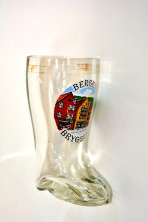 Boot Shape Shot Glass - Bergen Bryggen