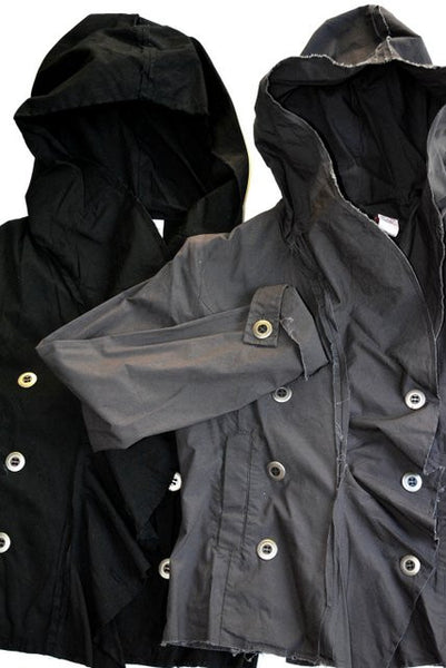 Women's Black or Grey Light Jacket With Hoodie