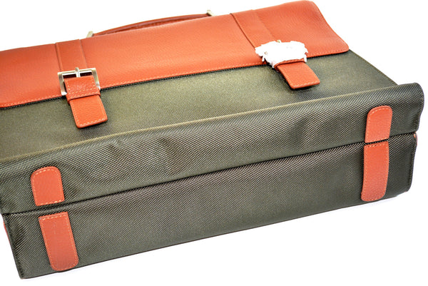 Men's Briefcase by BOSCA with Multiple Compartments for Laptop, Tablet, Cell Phone, Wallet, Pen, Keys & Documents.