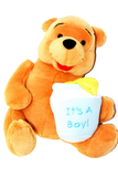 "It's A Boy. Winnie The Pooh Soft Toy. It is Approximately 10"" Tall by 9"" Wide."