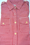 The Perfect Shirt - Women's Casual Checkered Shirt by Current / Elliott - Size 1 - Color is Red Gingham, Retailed originally for $202.00 - Now $39