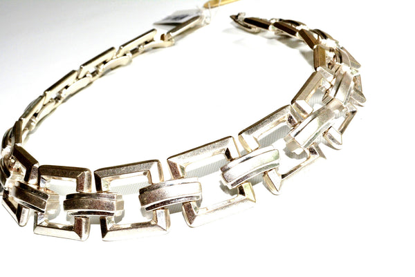 "Necklace by Ralph Lauren in silver tone approximately 18.5"" long (47 cm)."
