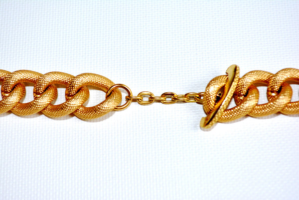 "Custom Golden Color Dimpled 25.75"" Chain Necklace"