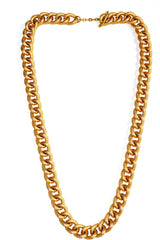 Custom Golden Color Dimpled Chain Necklace, 25.75 inch (65.4 cm) . A Fantastic match to any dress.