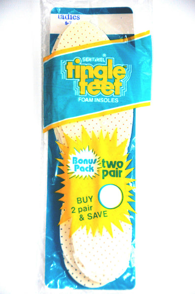 Ladies Tingle Feet Foam Insoles By Sentinel