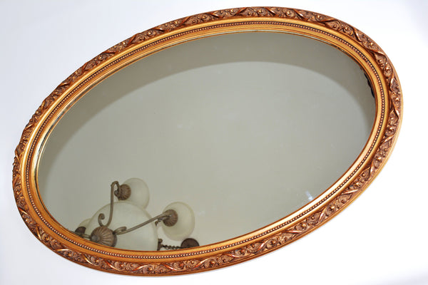 "Oval Framed Mirror - 24"" x 36"""