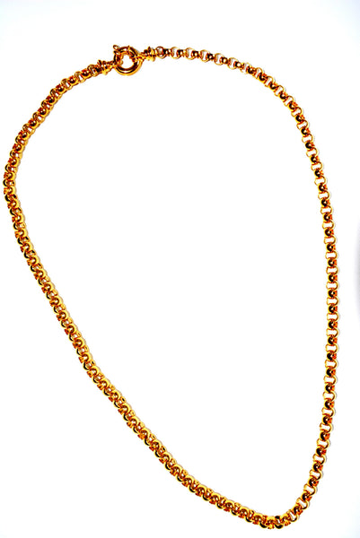 "Golden Color Chain Necklace approximately 31.5"" long (80 cm)."