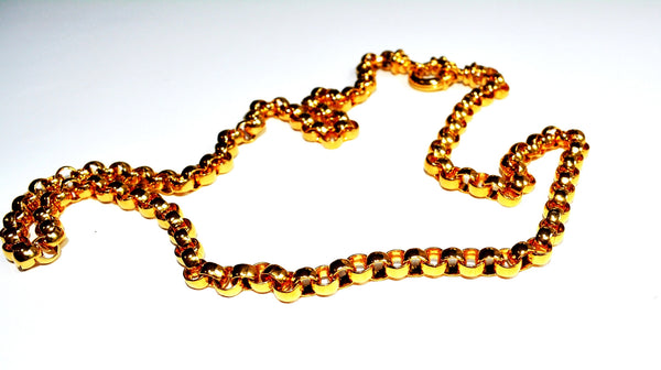 "Custom Golden Color 31.5"" Chain Necklace"
