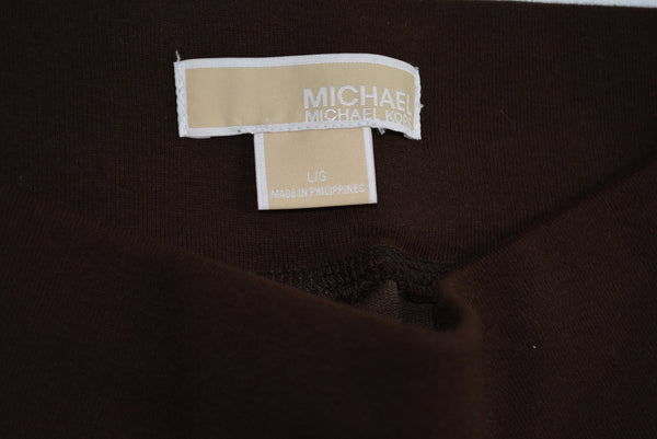 Women's Casual Brown Pants by MICHAEL KORS, Cotton, Size L.