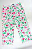 Bright White Floral Capri Pants by Josephine Chaus