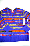 Ladies Sweater by Jones New York, Size L, Blue, 100% Lambs Wool,