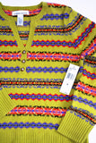 Ladies Sweater by Jones New York, Size M, Lime Green, 100% Lambs Wool