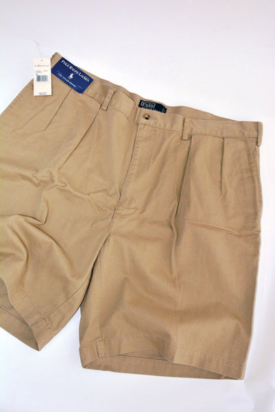 Men's Khaki Tyler Shorts - Polo by Ralph Lauren, Size 42, 100% Cotton.