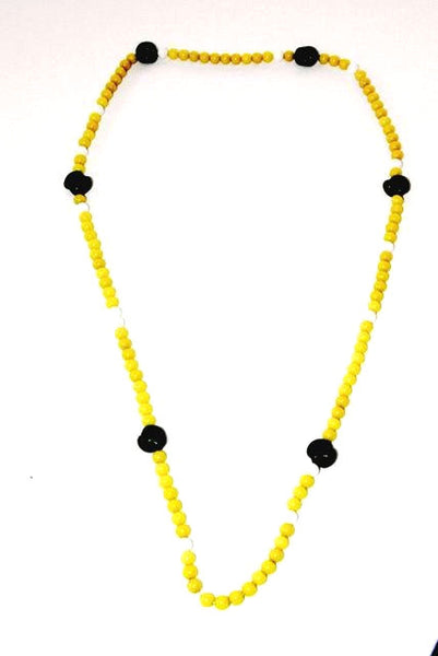 Black + Yellow Bead Necklace or Bracelet