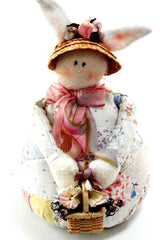 "11"" Hand Made Rabbit Doll By Aunt Liz"