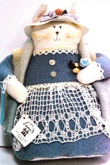 "11"" Hand Made Cat Doll By Aunt Liz"